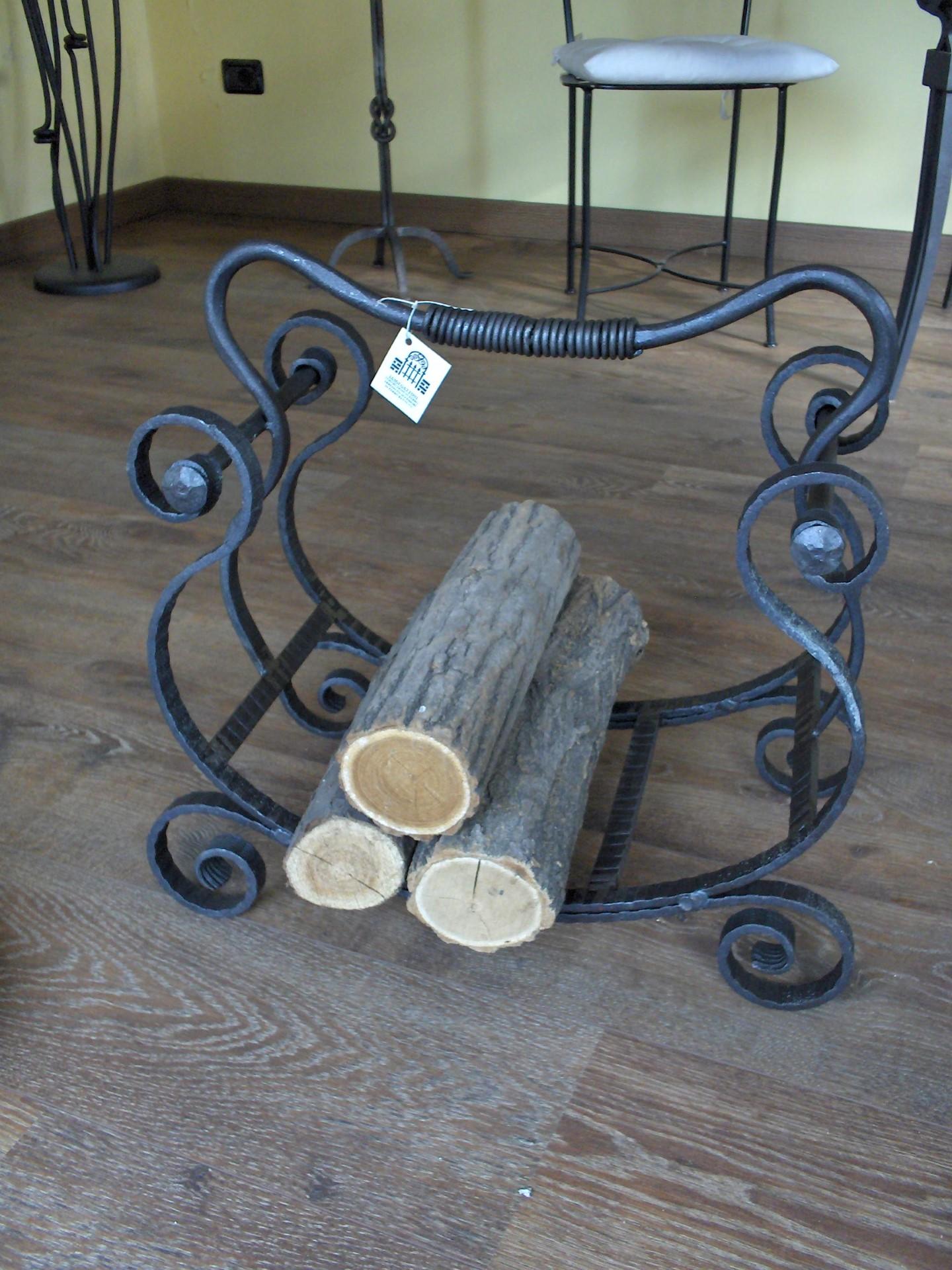 Portalegna arpa la casa del ferro battuto - Porta vasi in ferro battuto ...