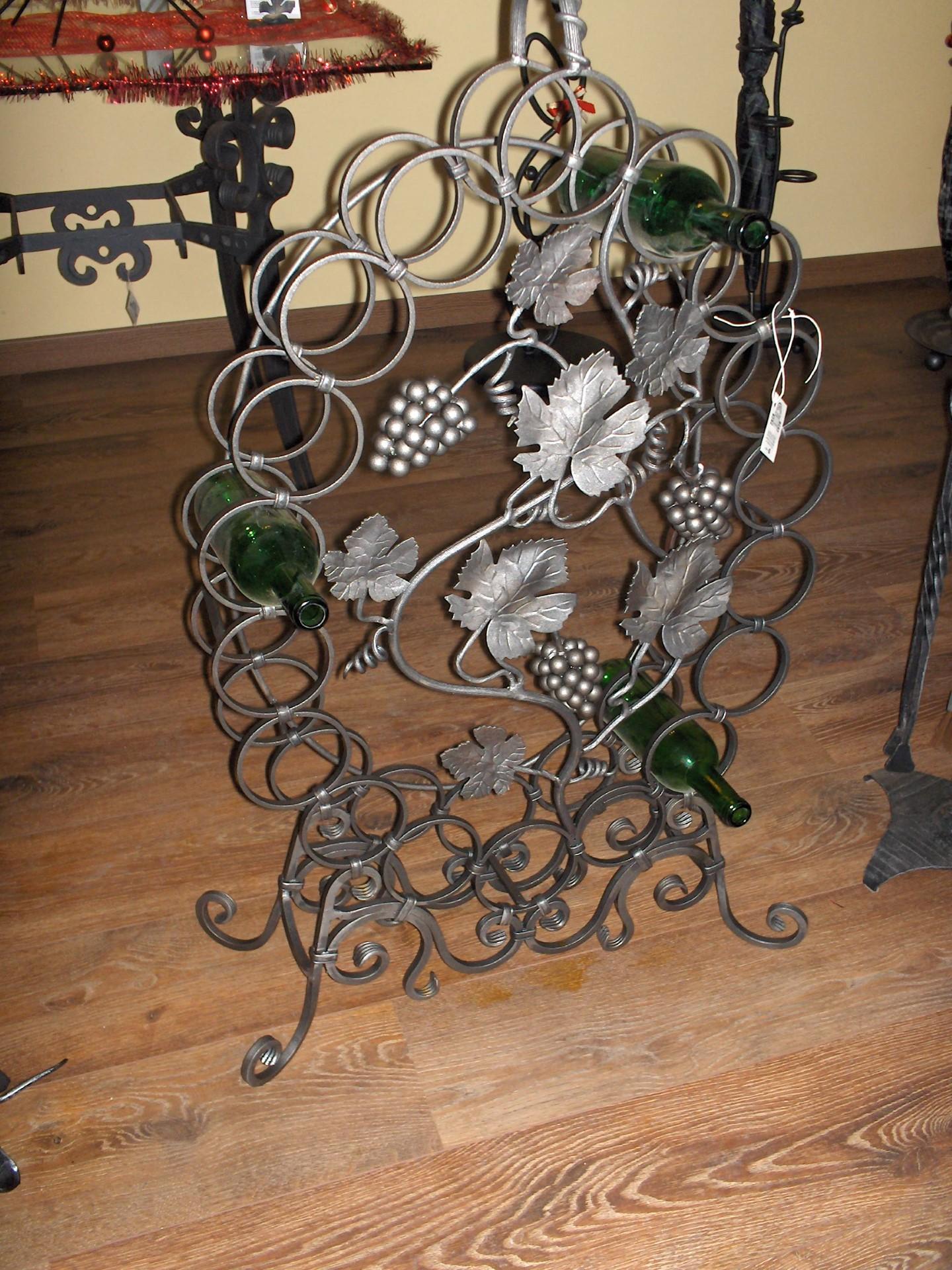 Portabottiglie botte la casa del ferro battuto - Portalegna in ferro battuto ...
