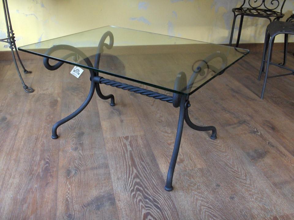 Tavolino venere la casa del ferro battuto - Tavoli da pranzo ferro battuto e vetro ...
