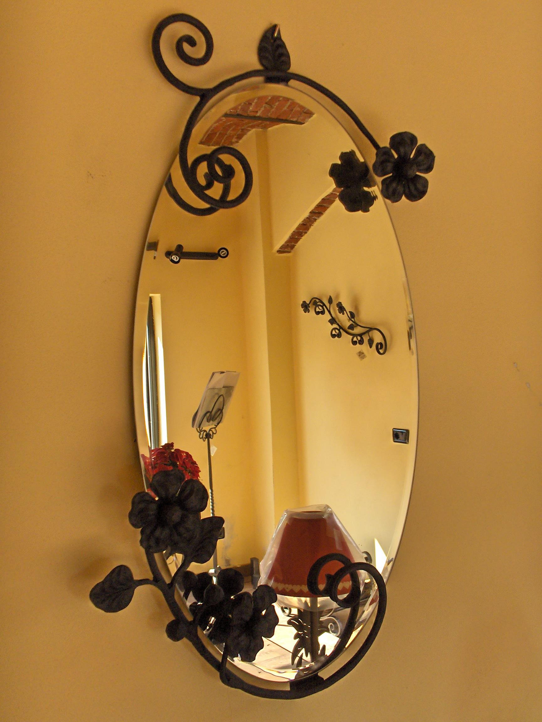 specchio primavera la casa del ferro battuto